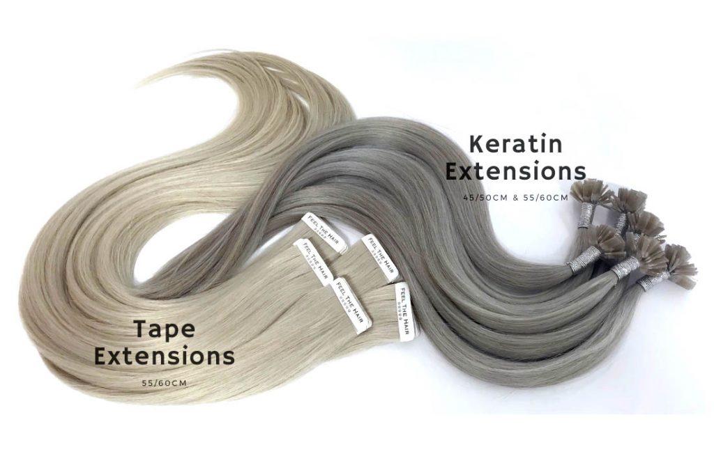Keratin och tejp löshår från Feel the hair